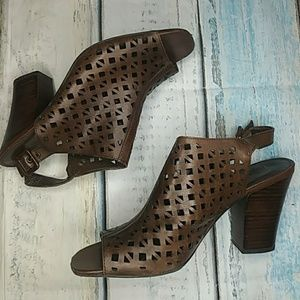 Franco Sarto Caged Slingback Peep-toe Sandals